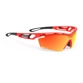 Rudy Project Tralyx Lunettes, red fluo gloss/multilaser orange